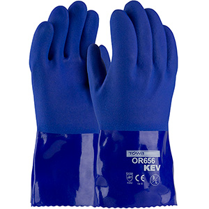 PVC Coated Glove with Kevlar Lining