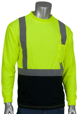 black bottom hi-vis t-shirt